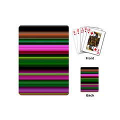 Multi Colored Stripes Background Wallpaper Playing Cards (mini)  by Simbadda