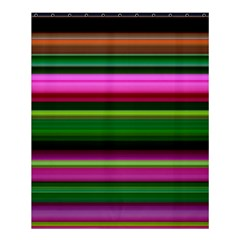 Multi Colored Stripes Background Wallpaper Shower Curtain 60  X 72  (medium)  by Simbadda