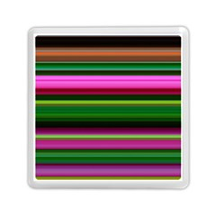 Multi Colored Stripes Background Wallpaper Memory Card Reader (square)  by Simbadda