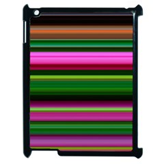 Multi Colored Stripes Background Wallpaper Apple Ipad 2 Case (black) by Simbadda