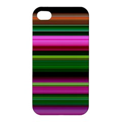 Multi Colored Stripes Background Wallpaper Apple Iphone 4/4s Hardshell Case by Simbadda
