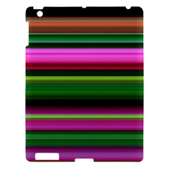 Multi Colored Stripes Background Wallpaper Apple Ipad 3/4 Hardshell Case by Simbadda