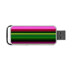 Multi Colored Stripes Background Wallpaper Portable USB Flash (One Side)