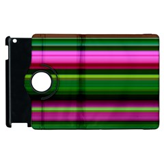 Multi Colored Stripes Background Wallpaper Apple Ipad 2 Flip 360 Case by Simbadda