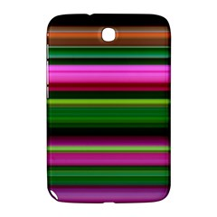 Multi Colored Stripes Background Wallpaper Samsung Galaxy Note 8 0 N5100 Hardshell Case  by Simbadda