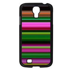 Multi Colored Stripes Background Wallpaper Samsung Galaxy S4 I9500/ I9505 Case (black) by Simbadda