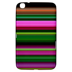 Multi Colored Stripes Background Wallpaper Samsung Galaxy Tab 3 (8 ) T3100 Hardshell Case  by Simbadda
