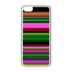 Multi Colored Stripes Background Wallpaper Apple Iphone 5c Seamless Case (white) by Simbadda