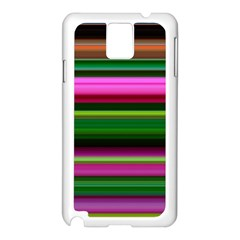 Multi Colored Stripes Background Wallpaper Samsung Galaxy Note 3 N9005 Case (white) by Simbadda