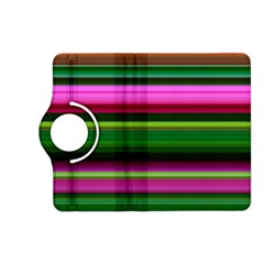 Multi Colored Stripes Background Wallpaper Kindle Fire Hd (2013) Flip 360 Case by Simbadda