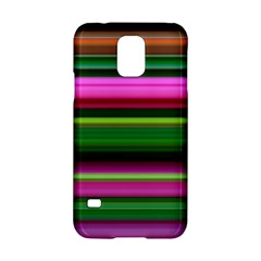 Multi Colored Stripes Background Wallpaper Samsung Galaxy S5 Hardshell Case  by Simbadda