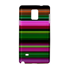 Multi Colored Stripes Background Wallpaper Samsung Galaxy Note 4 Hardshell Case by Simbadda
