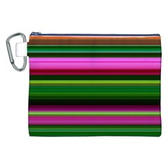 Multi Colored Stripes Background Wallpaper Canvas Cosmetic Bag (xxl) by Simbadda