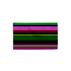 Multi Colored Stripes Background Wallpaper Cosmetic Bag (xs) by Simbadda