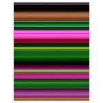 Multi Colored Stripes Background Wallpaper Drawstring Bag (Large) Back