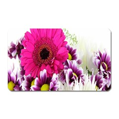 Pink Purple And White Flower Bouquet Magnet (rectangular) by Simbadda