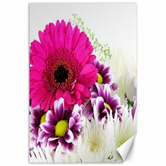 Pink Purple And White Flower Bouquet Canvas 24  X 36  by Simbadda