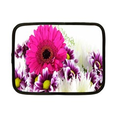 Pink Purple And White Flower Bouquet Netbook Case (small)  by Simbadda