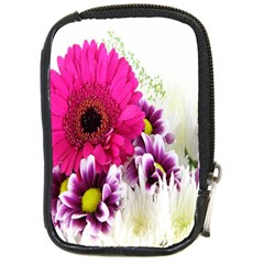 Pink Purple And White Flower Bouquet Compact Camera Cases by Simbadda