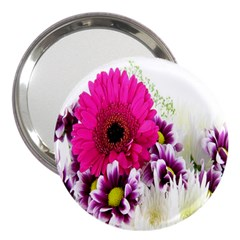 Pink Purple And White Flower Bouquet 3  Handbag Mirrors by Simbadda