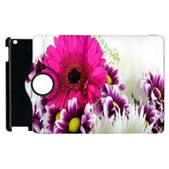 Pink Purple And White Flower Bouquet Apple Ipad 2 Flip 360 Case by Simbadda