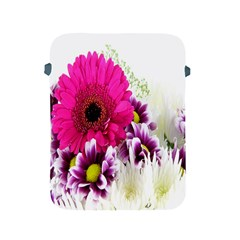 Pink Purple And White Flower Bouquet Apple Ipad 2/3/4 Protective Soft Cases by Simbadda