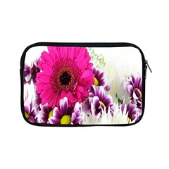 Pink Purple And White Flower Bouquet Apple Ipad Mini Zipper Cases by Simbadda