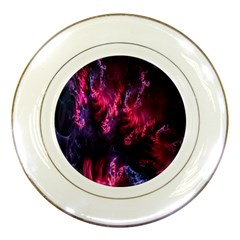 Abstract Fractal Background Wallpaper Porcelain Plates by Simbadda