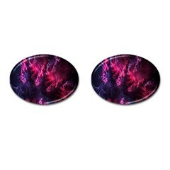 Abstract Fractal Background Wallpaper Cufflinks (oval) by Simbadda