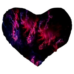Abstract Fractal Background Wallpaper Large 19  Premium Heart Shape Cushions by Simbadda