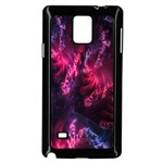 Abstract Fractal Background Wallpaper Samsung Galaxy Note 4 Case (Black) Front