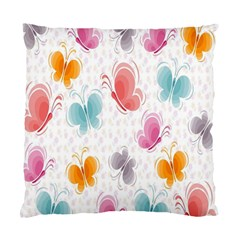 Butterfly Pattern Vector Art Wallpaper Standard Cushion Case (one Side) by Simbadda