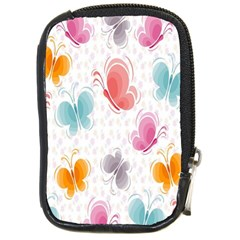 Butterfly Pattern Vector Art Wallpaper Compact Camera Cases by Simbadda