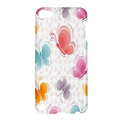 Butterfly Pattern Vector Art Wallpaper Apple Ipod Touch 5 Hardshell Case by Simbadda