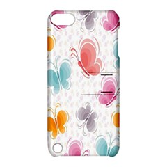 Butterfly Pattern Vector Art Wallpaper Apple Ipod Touch 5 Hardshell Case With Stand by Simbadda