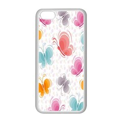 Butterfly Pattern Vector Art Wallpaper Apple Iphone 5c Seamless Case (white) by Simbadda