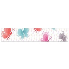 Butterfly Pattern Vector Art Wallpaper Flano Scarf (small)