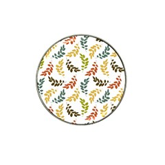 Colorful Leaves Seamless Wallpaper Pattern Background Hat Clip Ball Marker by Simbadda