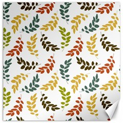 Colorful Leaves Seamless Wallpaper Pattern Background Canvas 12  X 12