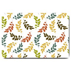 Colorful Leaves Seamless Wallpaper Pattern Background Large Doormat  by Simbadda