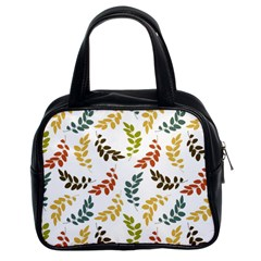 Colorful Leaves Seamless Wallpaper Pattern Background Classic Handbags (2 Sides) by Simbadda
