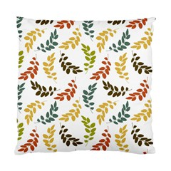 Colorful Leaves Seamless Wallpaper Pattern Background Standard Cushion Case (two Sides) by Simbadda