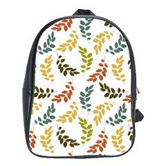 Colorful Leaves Seamless Wallpaper Pattern Background School Bags(large)  by Simbadda