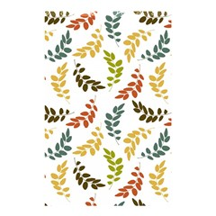 Colorful Leaves Seamless Wallpaper Pattern Background Shower Curtain 48  X 72  (small)  by Simbadda