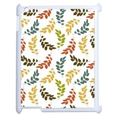 Colorful Leaves Seamless Wallpaper Pattern Background Apple Ipad 2 Case (white) by Simbadda
