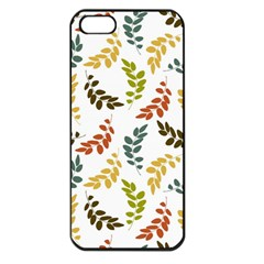 Colorful Leaves Seamless Wallpaper Pattern Background Apple Iphone 5 Seamless Case (black) by Simbadda