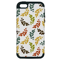 Colorful Leaves Seamless Wallpaper Pattern Background Apple iPhone 5 Hardshell Case (PC+Silicone)