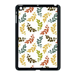 Colorful Leaves Seamless Wallpaper Pattern Background Apple Ipad Mini Case (black) by Simbadda