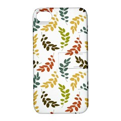 Colorful Leaves Seamless Wallpaper Pattern Background Apple Iphone 4/4s Hardshell Case With Stand by Simbadda