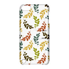 Colorful Leaves Seamless Wallpaper Pattern Background Apple Ipod Touch 5 Hardshell Case With Stand by Simbadda